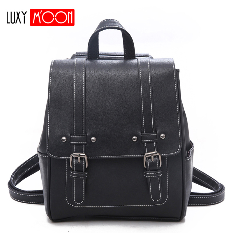Vintage Women PU Leather Backpack 2019 New School Bags for Girls Lady High Quality Shoulder Sac Fashion Rivet Mochila Mujer XA4KVintage Women PU Leather Backpack 2019 New School Bags for Girls Lady High Quality Shoulder Sac Fashion Rivet Mochila Mujer XA4K