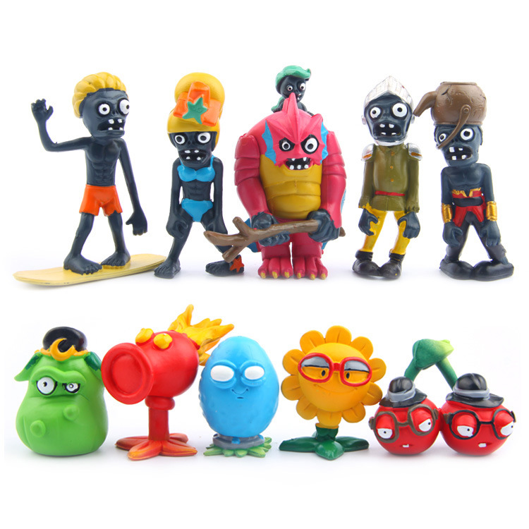 10pcs/Set Plants Vs Zombies Series Games PVC Toys Doll Plants Vs Zobies Tenth Generation Action Figure Kids Toys [yamala] 2017 pvz plants vs zombies peashooter pvc action figure model toy gifts toys for children high quality brinquedos