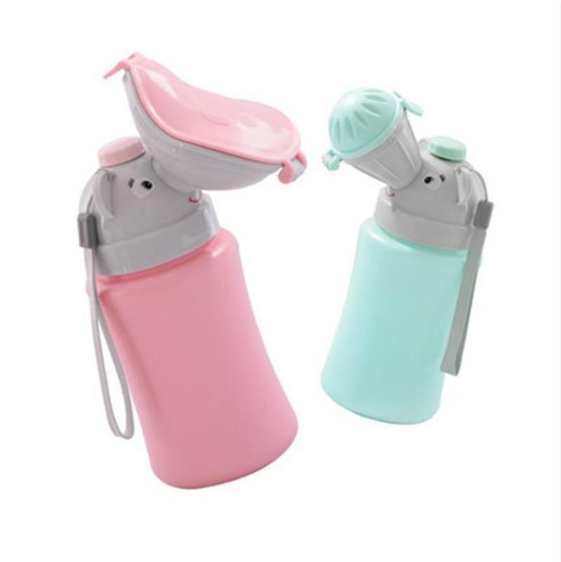 Portable Convenient Travel Cute Baby Urinal Kids Potty Girl Boy Car Vehicular Urinal Travel Anti-leakage  Hygiene Toilet Urinals