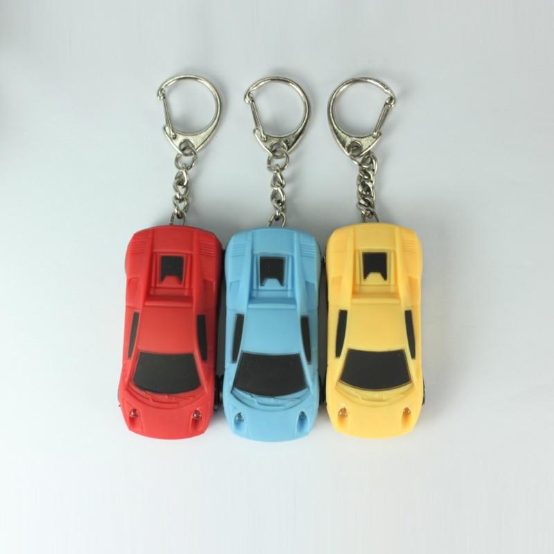 The LED light car key chain luminous sound key car pendant flashlight accessories Christmas small gifts wholesales