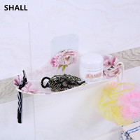 European Melamine Multifunctional Wall Mounted Type Shelf Supporter Drain And Clean Hanging Soap Dishes Bathroom Holder