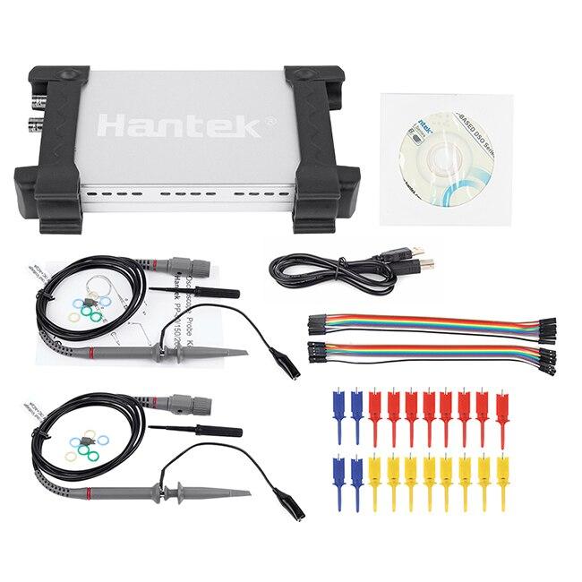 Быстрое прибытие Hantek 6022BL на базе ПК USB Ручной цифровой Портативный осциллограф + 16 логический канал анализатора логики