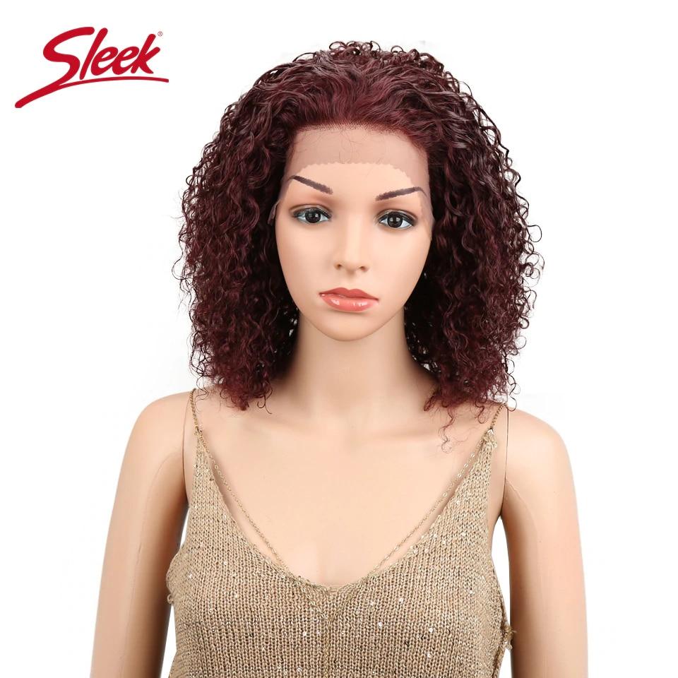 HTB1ROTfbdfvK1RjSszhq6AcGFXa4 Sleek Lace Front Human Hair Wigs For Black Women Brazilian Ombre Curly human hair Wig Wet and wavy Wig Curly Lace Front wig