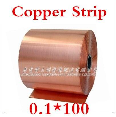 Kupfer Streifen Kupferband Hingebungsvoll 2 Meter 0,1x100mm 0,1mm Hochwertigen Kupferfolie