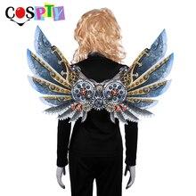 Cospty Burning Man Carnaval Party Unieke Volwassen Decoratie Stoom Punk Vleugels Kostuum Steampunk Accessoires