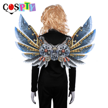 Cospty Burning Man Carnival Party Unique Adult Decoration Steam Punk Wings Costume Steampunk Accessories