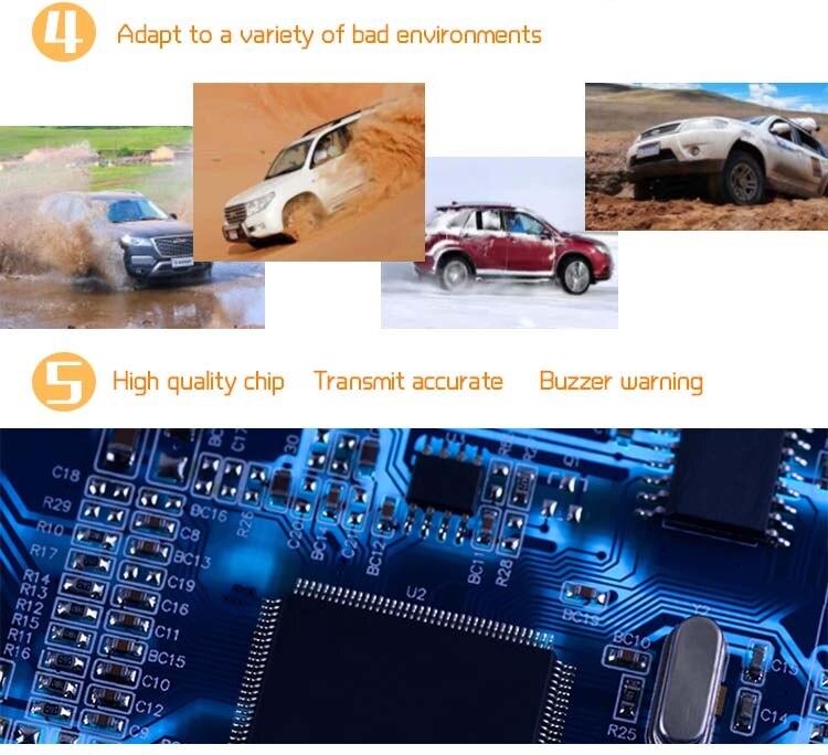 LCD carro sistema alarme 6