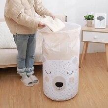 Сумка для хранения с изображением медведя из мультфильма, прозрачная сумка, большой органайзер для шкафа, органайзер для детских игрушек, в...