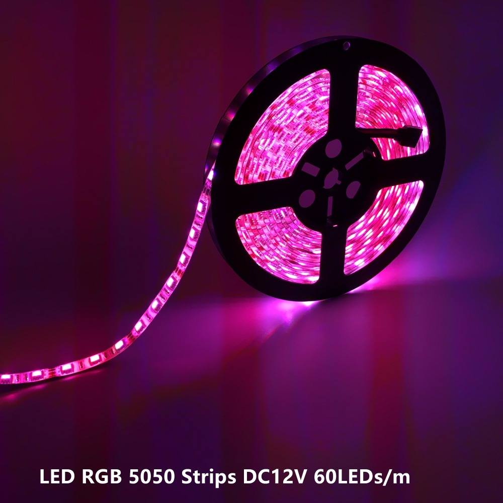 Etc 5m/roll Smd5050 Led Strip Light Waterproof Ip65 60leds/m Dc12v,rgb White Yellow Blue Red At All Costs Warm White