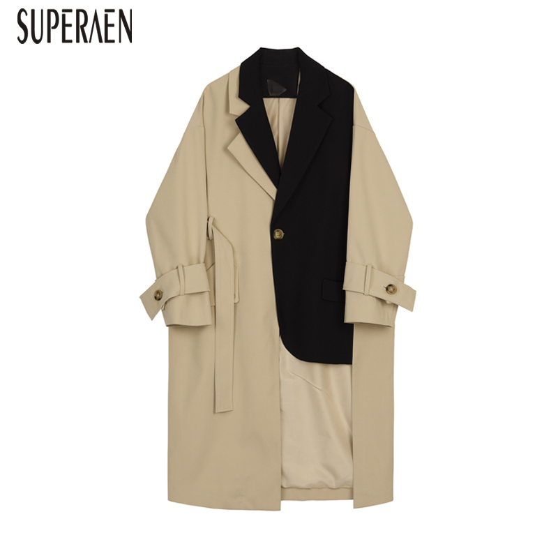 SuperAen Windbreaker Female Wild Cotton Fashion Casual   Trench   Coat for Women 2019 Spring New Europe Women Clothing