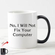 Geek Funny Computer IT Engineer Coffee Mug Tea Cup Novelty I Will Not Fix Your Computer Magic Mugs Cups Ceramic Office Gift 11oz