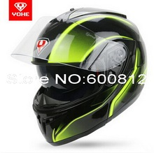 YOHE двойные линзы undrape мотоциклетный шлем зимой открытым лицом шлемы мотоцикла электрический велосипед шлем YH-955 режим ABS