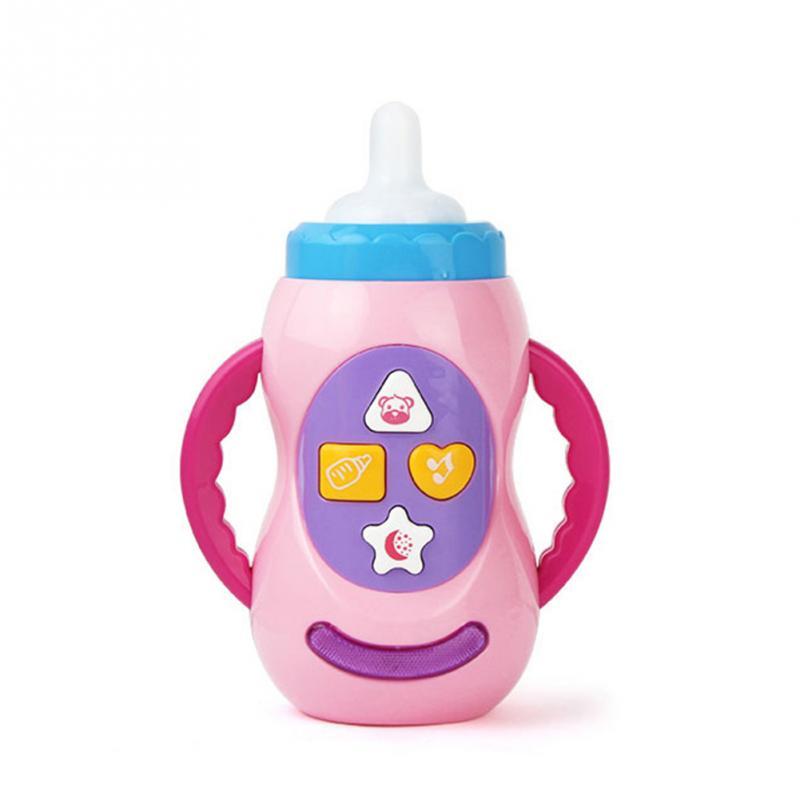 2019 Baby Baby Development Toys Hot Sell Teether Baby ToysBaby Feeding Bottle Shape Music ToyElectronic Toys