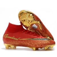 Soccer Shoes Men Original Superfly VI 360 Elite FG Football Boots SuperflyX CR7 Soccer Cleats Nova Chuteira Futebol Profissional