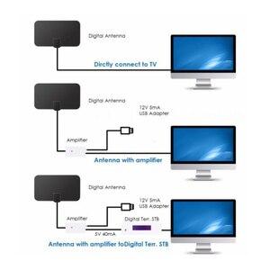 Image 4 - Цифровая ТВ антенна HD TV DTV с высоким коэффициентом усиления, 25 дБ, 1080P Внутренняя антенна, мини DVB T/T2 телевизионные антенны HD 174 МГц 240 470 МГц