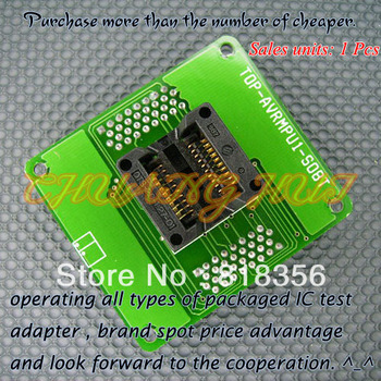 TOP-AVRMPU1-SO8T Programmer Adapter SO8 SOIC8 SOP8 IC Test Socket цена 2017
