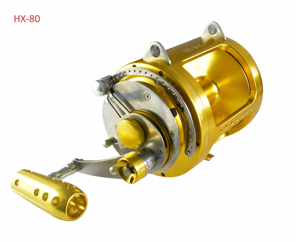 Saltwater Reel Trolling 80W 130lbs Tuna Offshore Game Sea Fishing Solid Powerful Extra Smooth Gomexus rigged custom big game marlin tuna hawaiian deep sea trolling lure