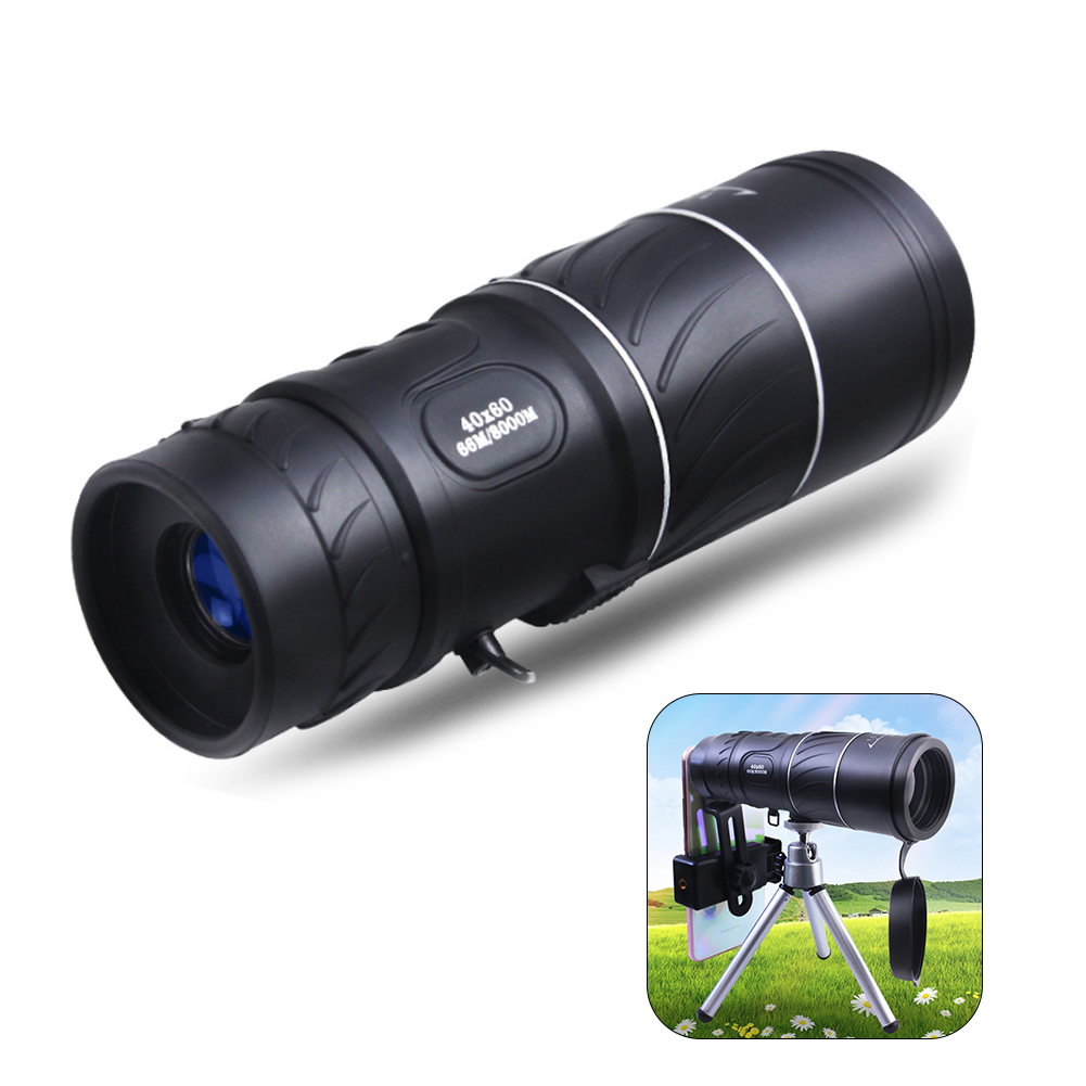 Outdoor 40x60 Clarity HD Vision Telescope Handheld Monocular Low Level Telescope Night Vision Film Green Optical Telescope(China)