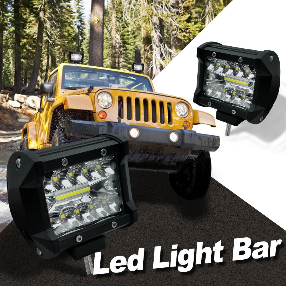 4 inch 60w 6000K Work Light LED Working Refit Off-road Vehicle Light Roof Strip Light image