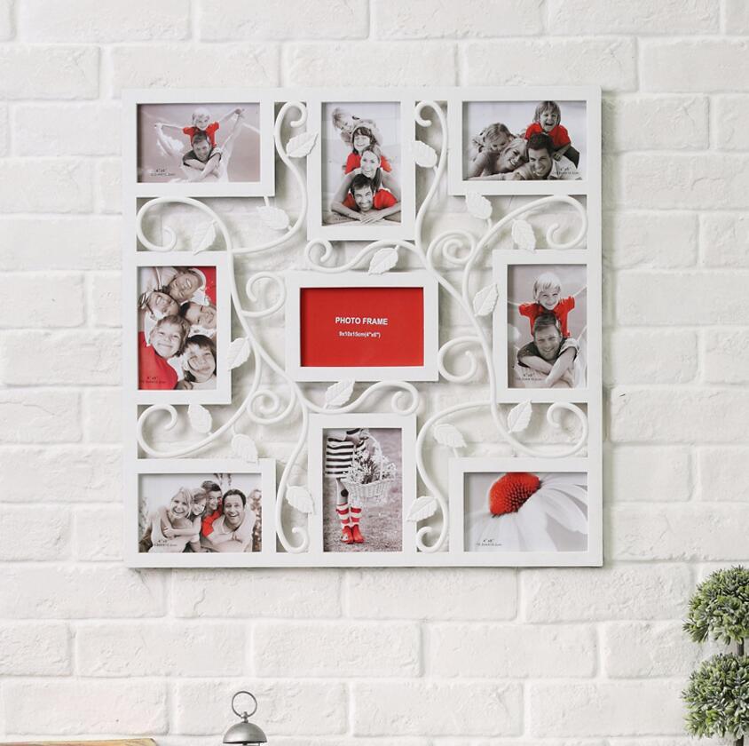 9 photo cadre photo cadre photo de famille amour grand multi mur suspendus de mariage d. Black Bedroom Furniture Sets. Home Design Ideas