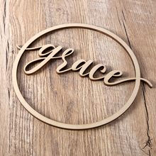 Personalized Circle Name Sign, Wooden Name Sign, Custom Wedding Wood Couples Sign decoration, Custom Name Sign