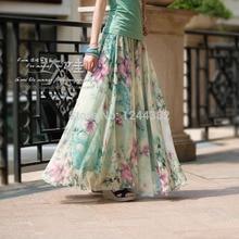 Boshow Ankle Length Chiffon Casual Long Dress Multiple Sizes