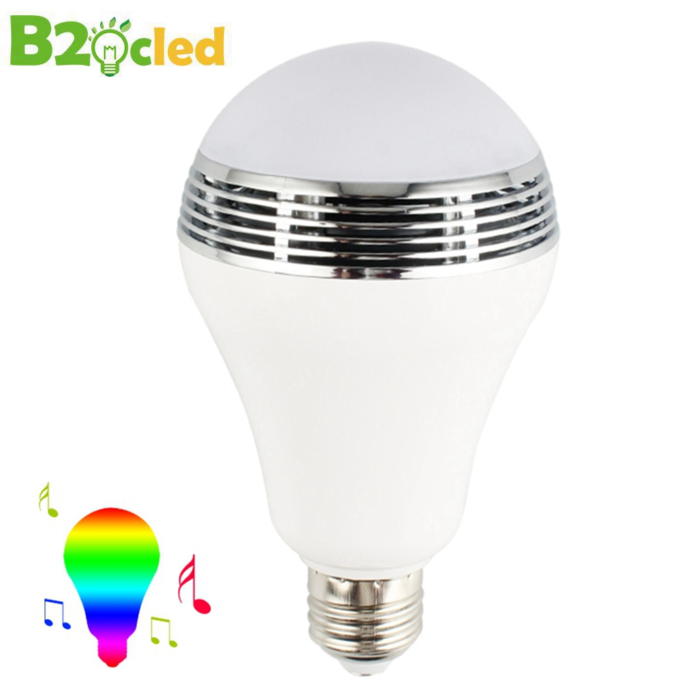 Smart dimmable E27 RGB LED Bluetooth speaker bulb mobile APP control color music dimming light intelligent wireless light speake smart dimmable mushroom led bulb household intelligent lighting rgb e27 600lm ac85 265v switchable for ios and android
