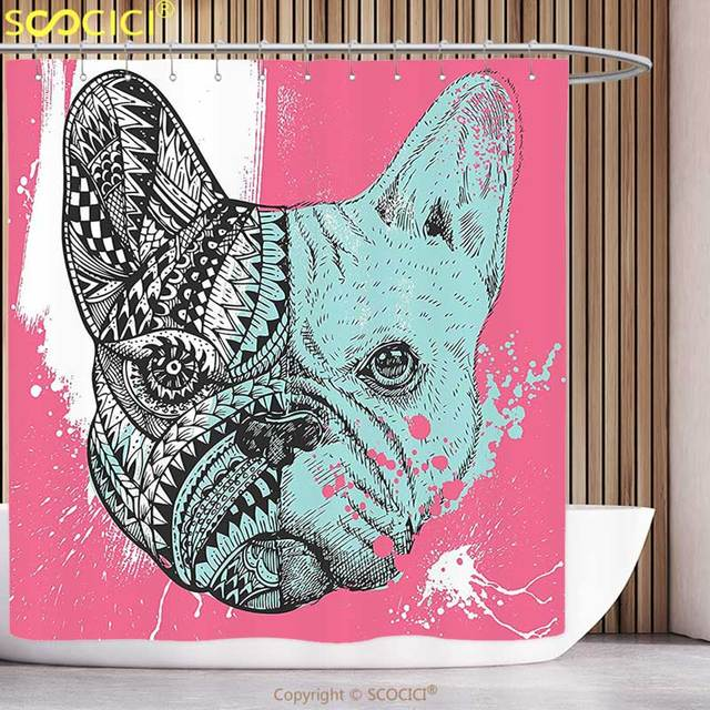 Aliexpress Buy Unique Shower Curtain Modern French Bulldog