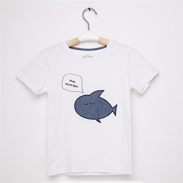 Free Shipping ! Original Designed Premium 100%Cotton Jersey with Cartoon Applique Short Sleeve boy's t shirt . Exclusive !