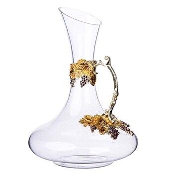 Enamel lead-free crystal red wine decanter household wine waking pot big belly wine set