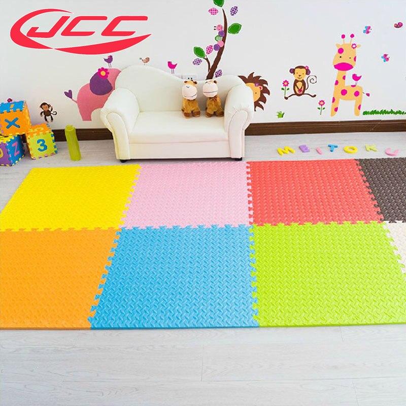 JCC bébé EVA tapis de jeu en mousse pour enfants/tapis d'exercice à carreaux de verrouillage tapis de sol, 6 pc dans un sac, chacun: 60x60 cm d'épaisseur 1.2 cm