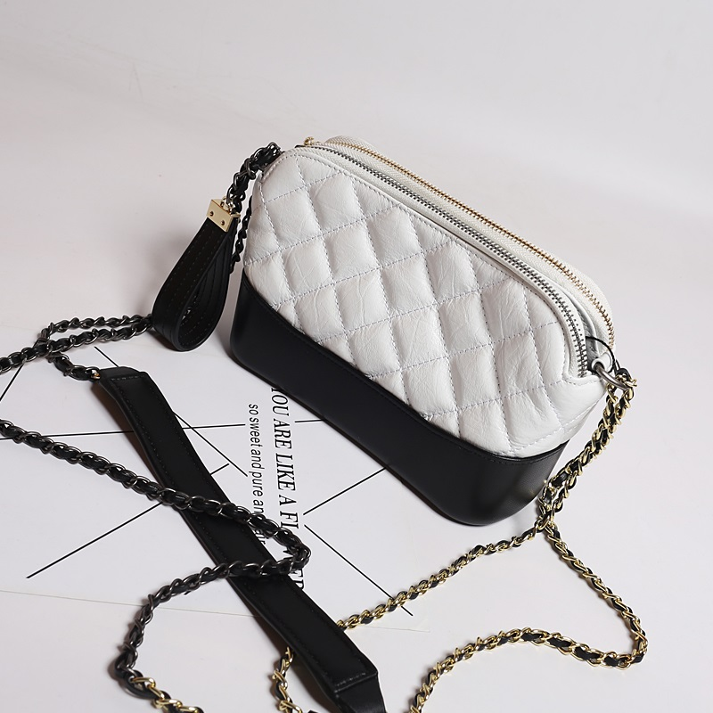 Luxury brand design Genuine Leather Chain Bag Fashion Handbag Patchwork Shoulder Bag lady Messenger Bag sac a main crossbody bag new fashion women chain shoulder bag crossbody bag shiny bling lady clutch purse luxury patent leather female handbag sac a main
