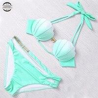 Yel New Arrival Print Women Beach Bathing Suit Sexy Bikini Set Biquini Bikini 2017 Swimsuit Women