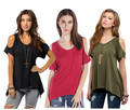 New Fashion Women Cotton t Shirt Off the Shoulder Oversize 2XL Casual t-shirt Summer O-neck Sexy Green Black Loose Top