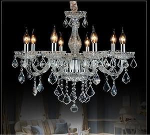 Image 4 - Moderna luz do candelabro de cristal moderna iluminação luzes de cristal casa interior luminária sala lustres lustre de cristal