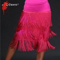 NEW Latin skirt Women Salsa Tango Rumba Flamengo Ballroom Dance Dress Tassel Skirt Bottoms