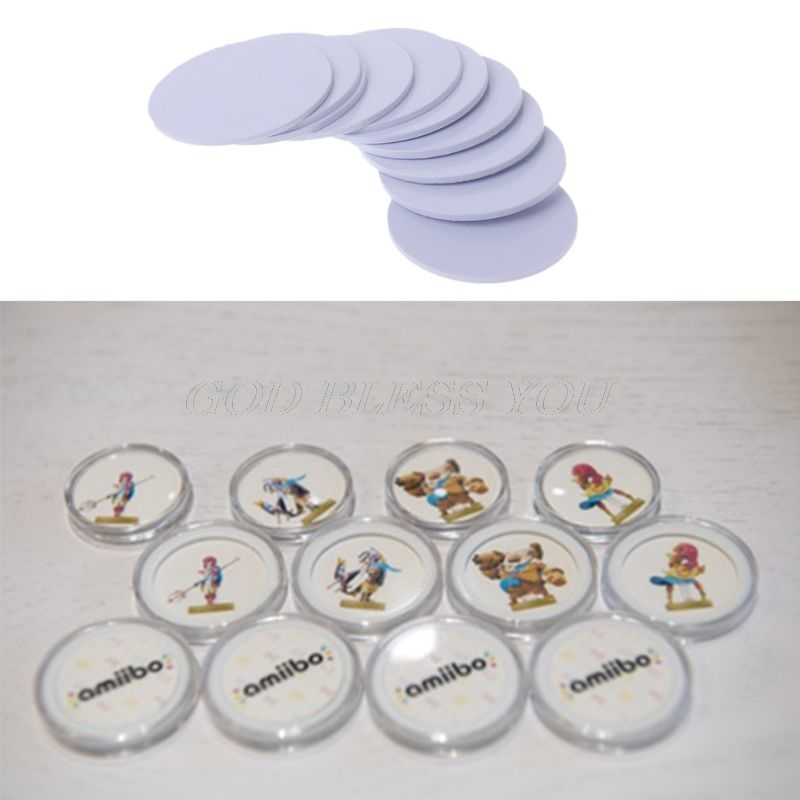 10Pcs Ntag215 NFC Tags Sticker Phone Available Adhesive Labels RFID Tag 25mm