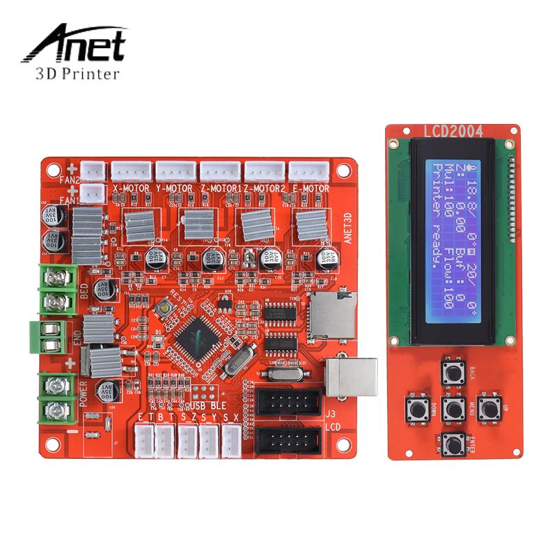 Hot Sale Anet LCD Smart Display Screen Controller Module with Cable Controller Board 12V 24V Motherboard For A8 3D Printer