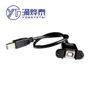 Port druku przedłużacz USB B z otworami na śruby można zamocować przedłużacz portu USB do druku męskiego na żeński tanie i dobre opinie