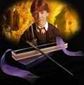 2016 Metal/Iron Core Ron Weasley Magic Wand/ Harry Potter Magical Wand/ Elegant Ribbon Gift Box Packing