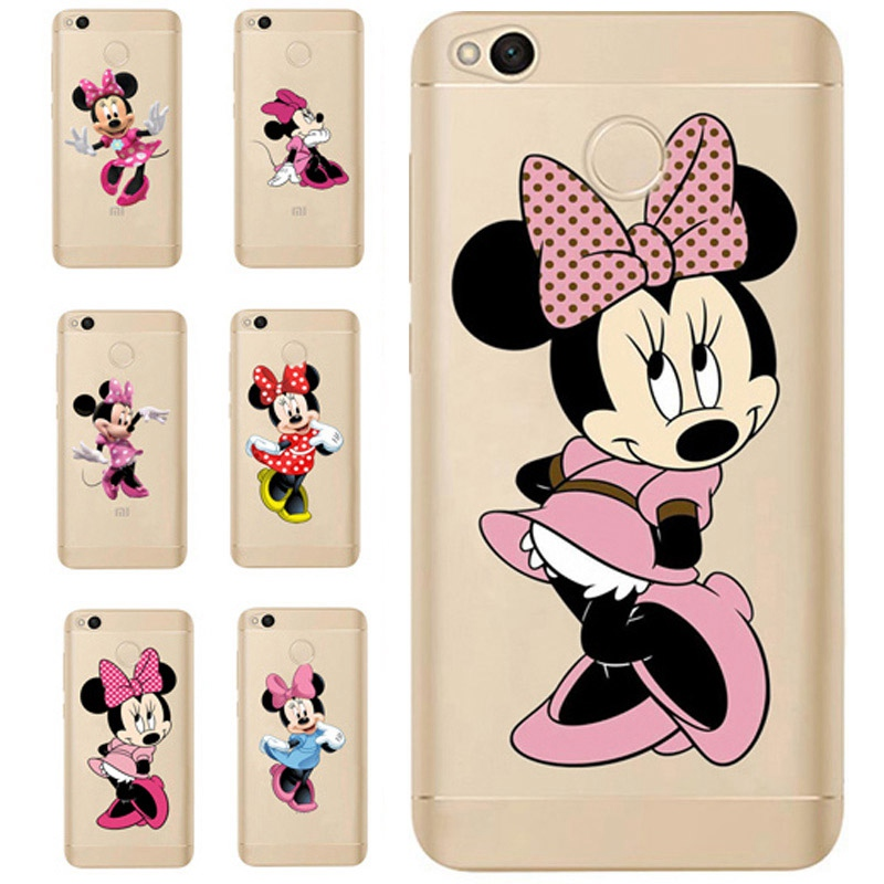 For <font><b>Xiaomi</b></font> Redmi 4X Note 4 4A 3 Cute TPU Colorful <font><b>Mickey</b></font> Painted Design Cover Case <font><b>Fundas</b></font> For <font><b>Xiaomi</b></font> <font><b>Mi</b></font> <font><b>A1</b></font> Note 4 Pro D313 image