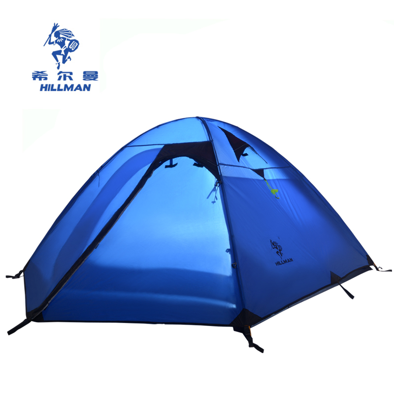 Hillman new outdoor 3-4 person double layer rainproof camping Mountaineering Tent Hillman aluminum poles 3 season flytop high quality 3 person double layer rainproof windproof outdoor camping tent with snow skirt 210 50 180 50 115 cm