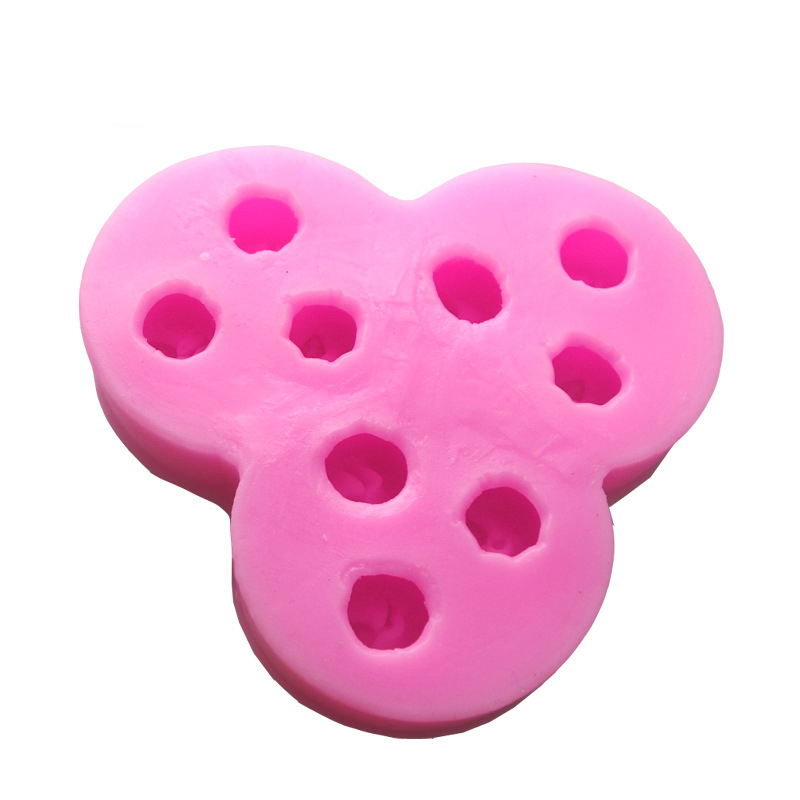 9 Holes 3D Mini Apples Silicone Biscuit Fondant Chocolate Paste Mold,Cookie Cake Decorationg Tool Bakeware