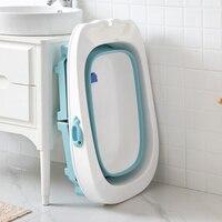 Baby bath tub children bath barrel baby tub folding bath barrel large bath barrel newborn swimming home multi function folding