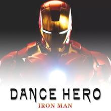 Dance Iron Man Action Figure Toy LED Flashlight with Sound Avengers Iron Man Hero Electronic Toy iron man original bandai tamashii nations s h figuarts shf exclusive action figure iron man mark2 mk 2