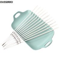OUSSIRRO 100pcs Stainless Steel Barbecue BBQ Skewers Needle Kebab Sticks For Outdoor Camping Picnic Tools