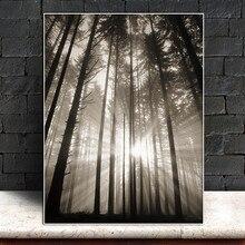 Картина на холсте без рамки солнце лес скандинавский абстрактный надеюсь Настенная картина гостиная пейзаж художественное украшение картина скандинавский