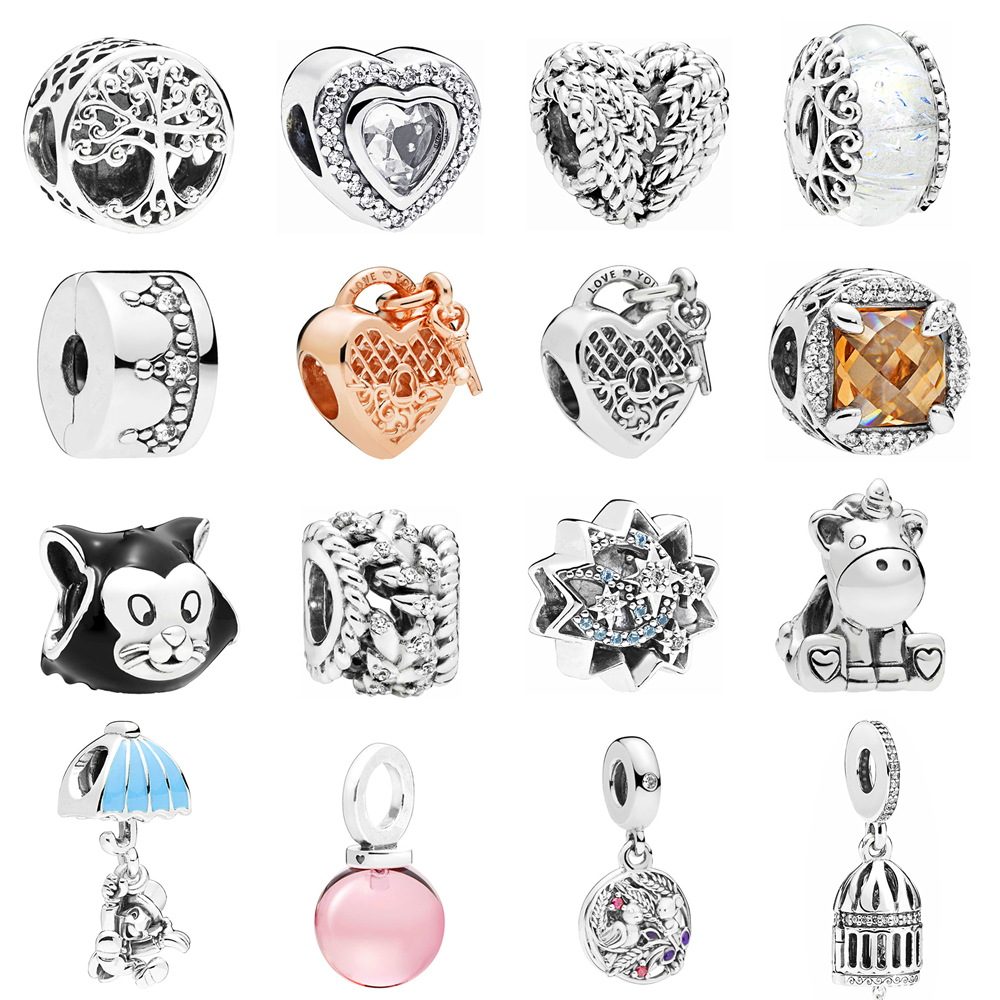 2019 Summer Collection 925 Sterling Silver Beads Handbag Charms With Pink And Clear Cz Fits Original Pandora Charm Bracelet Diy Spare No Cost At Any Cost Jewelry & Accessories