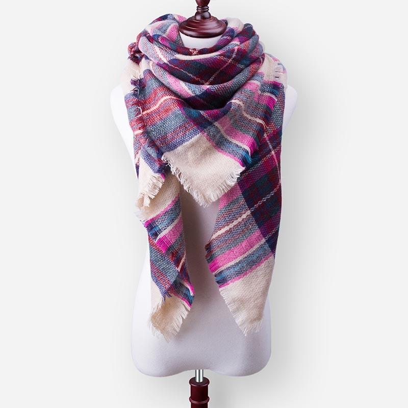 Бренд Evrfelan, шарфы, Прямая поставка, женский зимний шарф, высокое качество, плед, одеяло, шарф и шаль, большой размер, плотные шарфы, шали - Цвет: W38