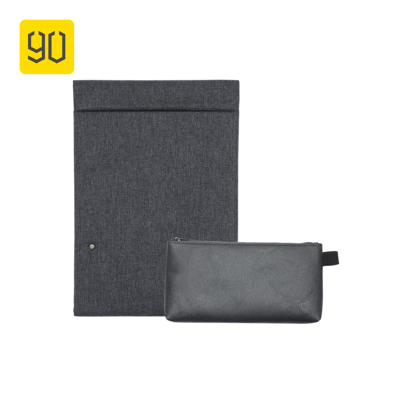 90FUN City Concise Series Laptop Briefcase Accessory Holder For 13inch Tablet Business Water Resistant Sleeve Men